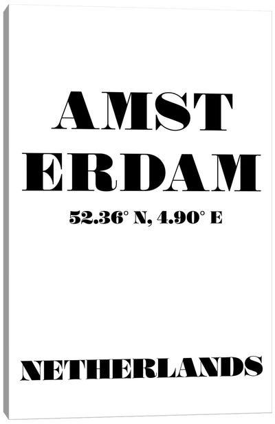 Amsterdam - Coordinates Canvas Art Print