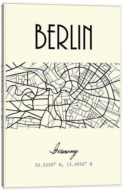 Berlin City Map Canvas Art Print