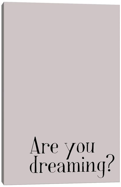 Are You Dreaming? Canvas Art Print
