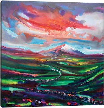 Steam Train To Snowdonia Canvas Art Print