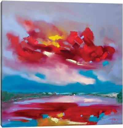 Turbulence (Temple Island, Henley Royal Regatta) Canvas Art Print