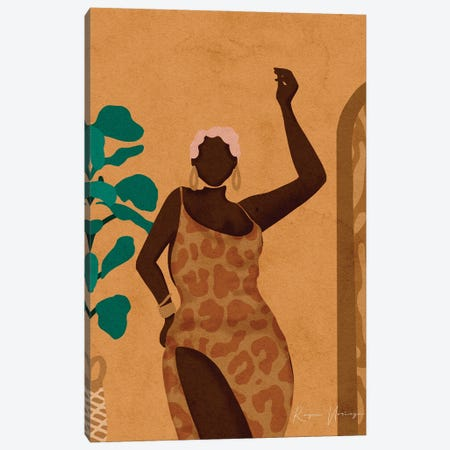 Audrey Canvas Print #NRE105} by Reyna Noriega Canvas Art Print