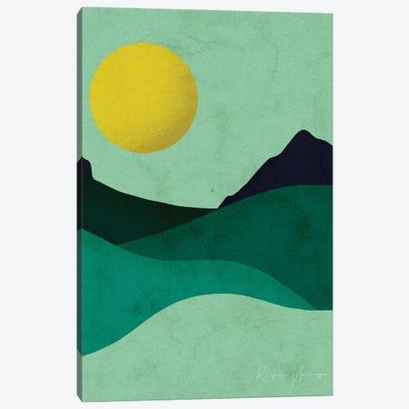 Chartreuse Moon Canvas Print #NRE108} by Reyna Noriega Canvas Artwork