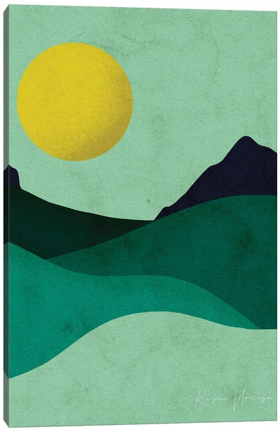 Chartreuse Moon Canvas Art Print