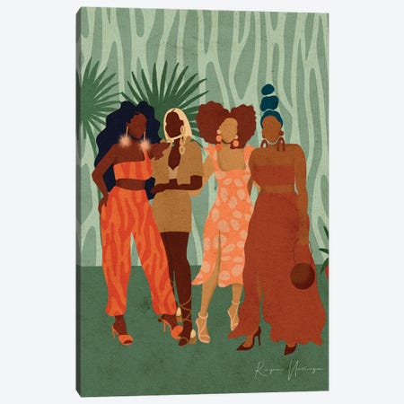 Girls Day Out Canvas Print #NRE110} by Reyna Noriega Art Print