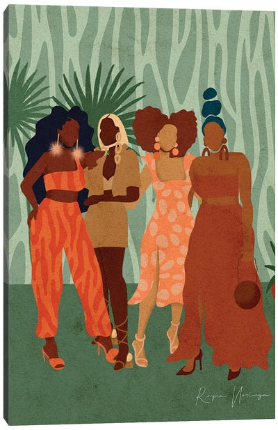 Girls Day Out Canvas Art Print