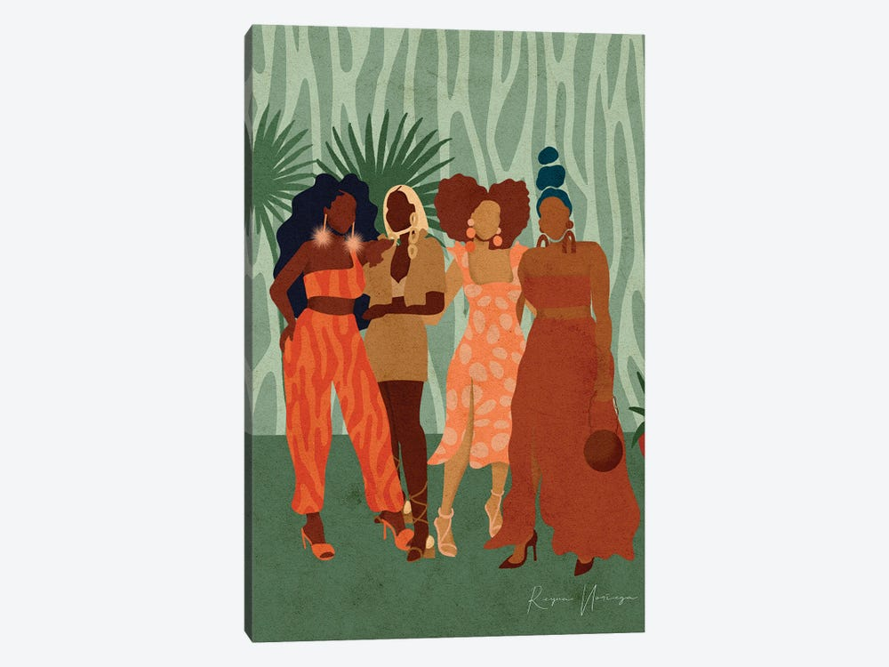 Girls Day Out by Reyna Noriega 1-piece Canvas Art