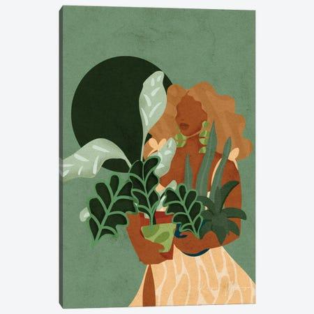 Plant Lady Canvas Print #NRE116} by Reyna Noriega Canvas Art
