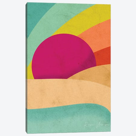 Pride Sunset Canvas Print #NRE118} by Reyna Noriega Canvas Art Print
