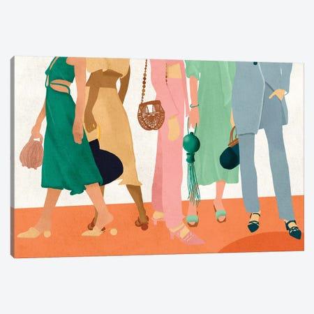Fashion Girls Canvas Print #NRE12} by Reyna Noriega Canvas Wall Art