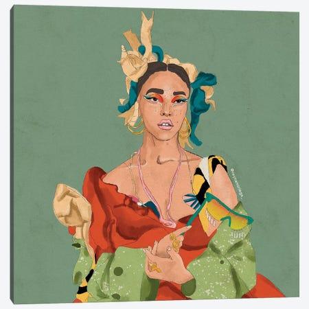 Fka Twigs Canvas Print #NRE13} by Reyna Noriega Canvas Artwork