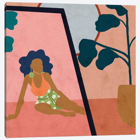 Getting Dressed Canvas Print #NRE15} by Reyna Noriega Canvas Art Print