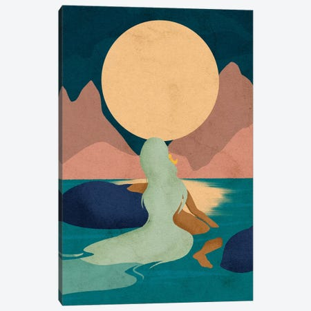 Aquarius Moon 3-Piece Canvas #NRE1} by Reyna Noriega Canvas Art Print