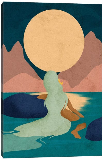 Aquarius Moon Canvas Art Print