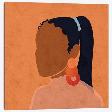 Jen Red Canvas Print #NRE20} by Reyna Noriega Art Print