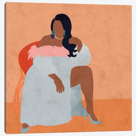 Lizzo Canvas Print #NRE27} by Reyna Noriega Canvas Artwork