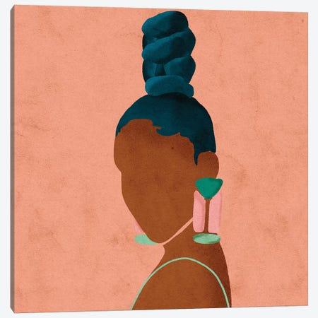 Luz Pink Canvas Print #NRE29} by Reyna Noriega Art Print