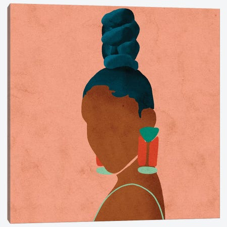 Luz Red Canvas Print #NRE30} by Reyna Noriega Canvas Wall Art