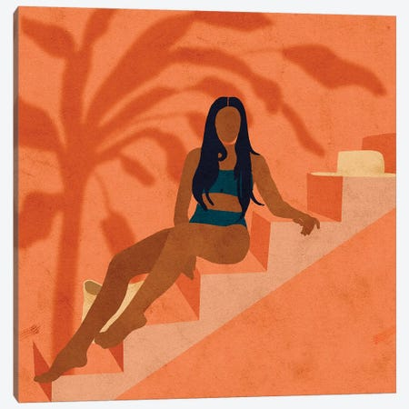 Monikh In Ibiza Canvas Print #NRE32} by Reyna Noriega Canvas Art