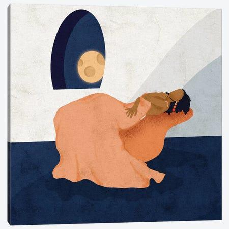 Moon Bathing Canvas Print #NRE33} by Reyna Noriega Canvas Art