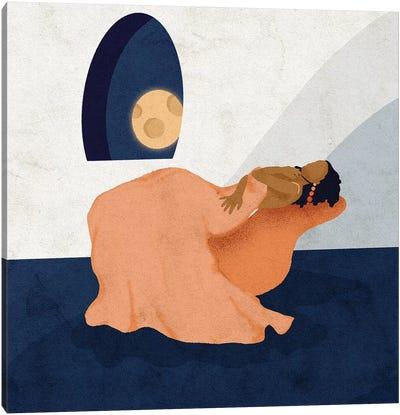 Moon Bathing Canvas Art Print