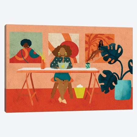 Office 3-Piece Canvas #NRE38} by Reyna Noriega Canvas Artwork