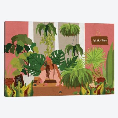 Plant Mom Canvas Print #NRE41} by Reyna Noriega Art Print