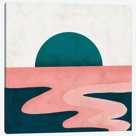 Sol 3-Piece Canvas #NRE49} by Reyna Noriega Canvas Art Print