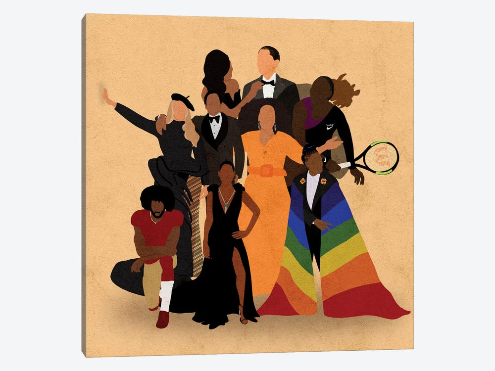 Black Icons by Reyna Noriega 1-piece Canvas Art