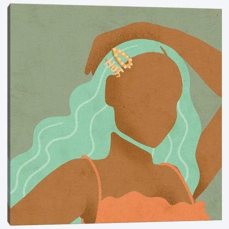 Hot Girl Canvas Print #NRE59} by Reyna Noriega Canvas Artwork