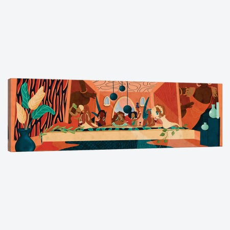 Last Supper Canvas Print #NRE61} by Reyna Noriega Art Print