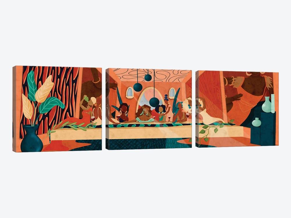 Last Supper by Reyna Noriega 3-piece Canvas Wall Art