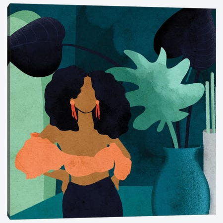 Reyna Square Canvas Print #NRE64} by Reyna Noriega Canvas Artwork