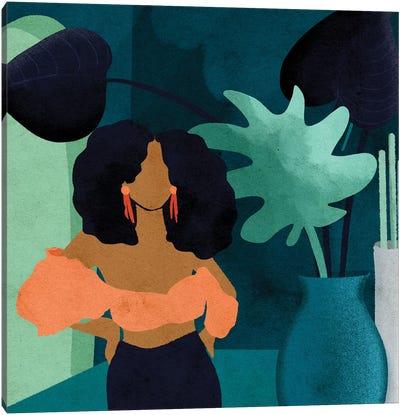 Reyna Square Canvas Art Print