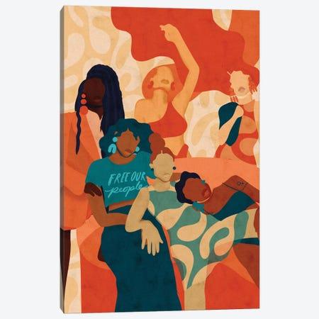 Women Canvas Print #NRE68} by Reyna Noriega Canvas Print
