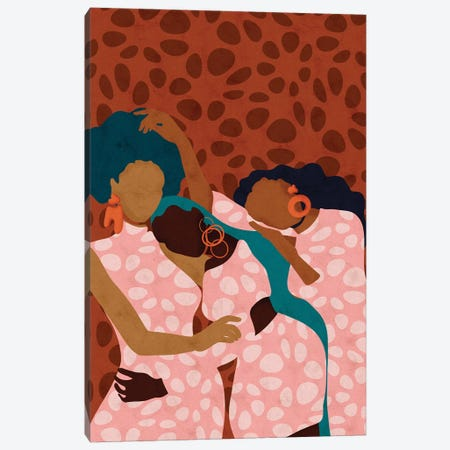 Lean On Me Canvas Print #NRE73} by Reyna Noriega Canvas Art