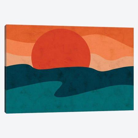 Red Horizon 3-Piece Canvas #NRE77} by Reyna Noriega Canvas Art Print