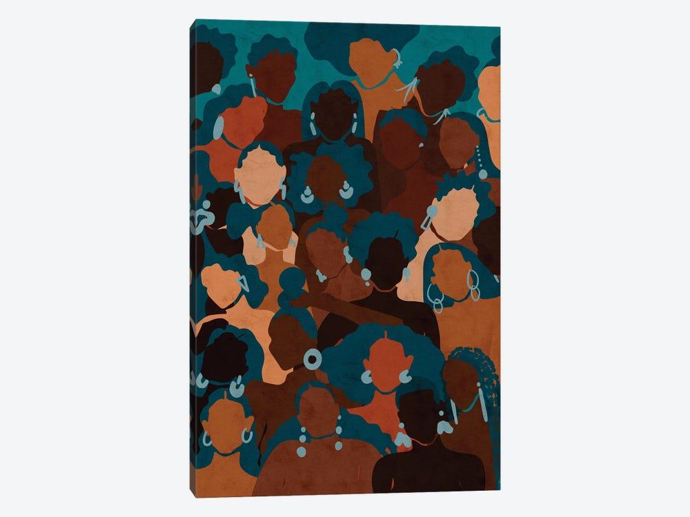 Aqua Womxn by Reyna Noriega 1-piece Canvas Wall Art