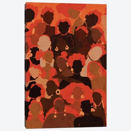 Fire Womxn Canvas Print #NRE79} by Reyna Noriega Canvas Artwork