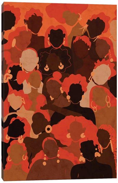 Fire Womxn Canvas Art Print