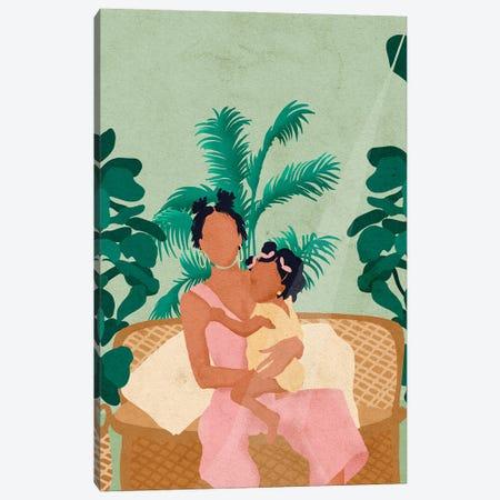 Jodi And Baby Canvas Print #NRE81} by Reyna Noriega Art Print