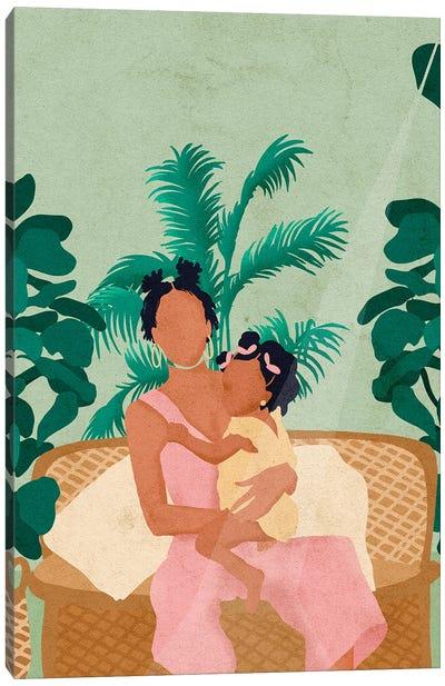 Jodi And Baby Canvas Art Print