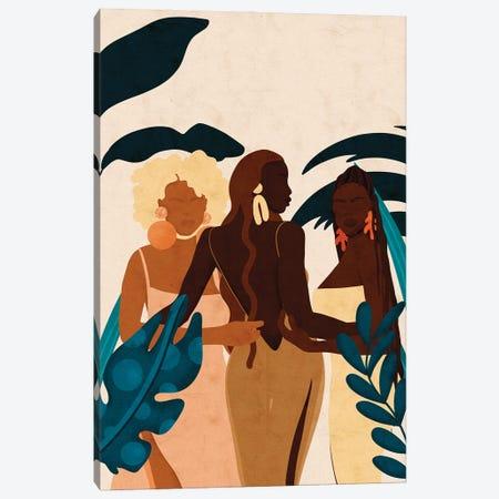 Sisters Canvas Print #NRE84} by Reyna Noriega Canvas Wall Art