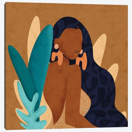 In Bloom Square Canvas Print #NRE92} by Reyna Noriega Canvas Artwork