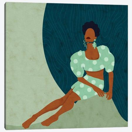 Ebonee Square Canvas Print #NRE93} by Reyna Noriega Canvas Artwork
