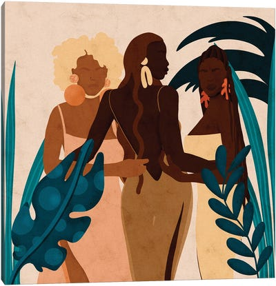 Sisters Square Canvas Art Print