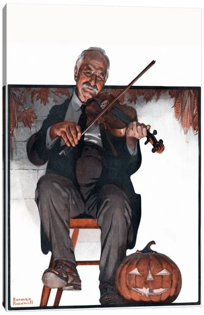 Man Playing Violin Canvas Art Print