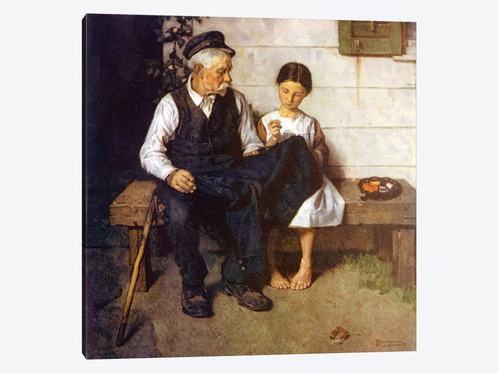 The Lighthouse Keeper's Daughter by Norman Rockwell 1-piece Canvas Wall Art