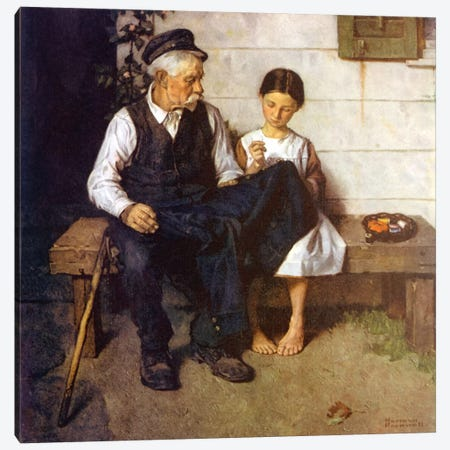 The Lighthouse Keeper's Daughter Canvas Print #NRL106} by Norman Rockwell Canvas Print