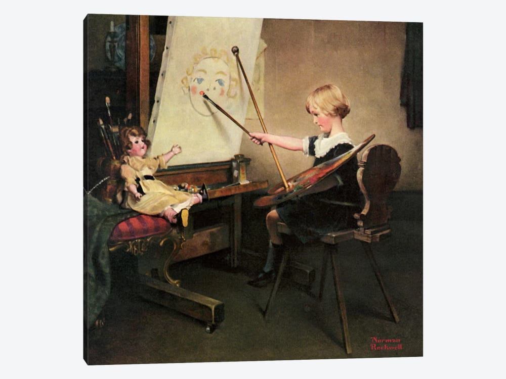 The Artist's Daughter by Norman Rockwell 1-piece Art Print